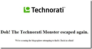 TechnoratiLookingForTheMonster